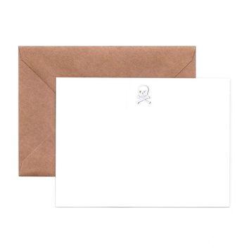Embossed Skull Note Cards (Pack of 6)
