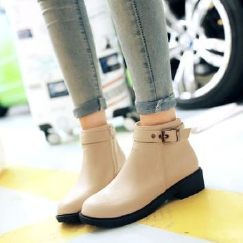 ankle boots for women low heel winter boots women 2017 shoes woman australian autumn fashion female martin boot hot sale &G509