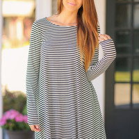 Far Side Dress - Black and Ivory