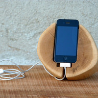 iPhone Wood Stand. Wooden iPhone Docking Station. by WoodRestart