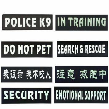 Free shipping 2pcs/pair Reflective dog harness label dog collar label pet harness accessories