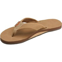 Women's Rainbow Sandals Premier Leather Single Layer Wide Strap