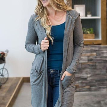 PEAPVA6 The Sleek Jersey Duster - Charcoal - Z Supply