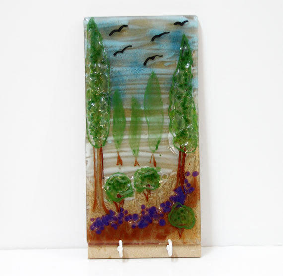 Fused Glass Wall Art: Wall Hanging Panel, Fused Glass Art Wall From Virtulyglass On