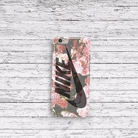 Nike Swoosh Logo Pink Roses iPhone 4 5 5c 6s 6plus and Samsung Galaxy S5 S6 Case