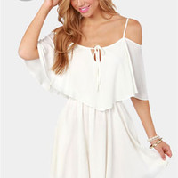 LULUS Exclusive Flow Your Own Way Ivory Dress