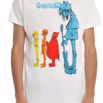 Gorillaz BLUE NOODLES T-Shirt NWT Authentic & Licensed
