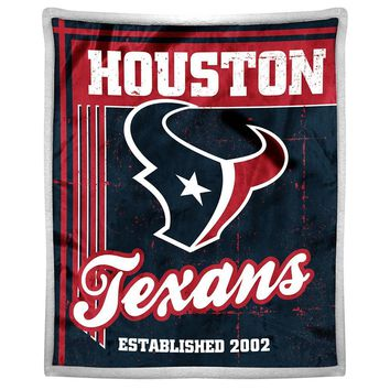 Houston Texans NFL Mink Sherpa Throw (50in x 60in)