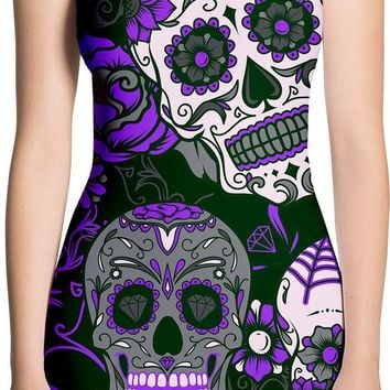 Purple Sugar Skull Dress