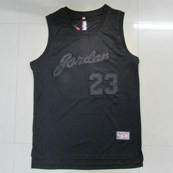Michael Jordan Chicago Bulls #23 Basketball Jersey Black Jordan Men