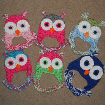 SALE  Crochet Owl Hat - Preemie-Infant