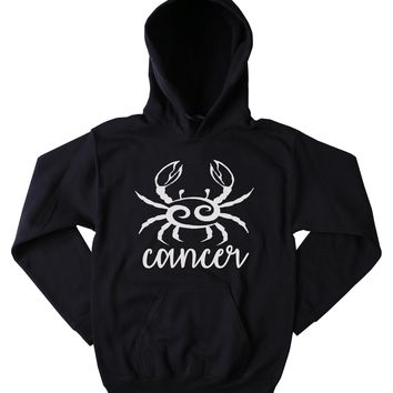 Cancer Symbol Sweatshirt Zodiac Sign Horoscope Astrological Birthday Hoodie