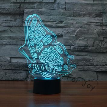 Butterfly 3D LED Night Light Decorative Lamp With 7 Changable Colors