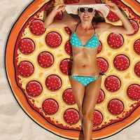 Casual Pizza Sweet Fantasy Beach Blanket