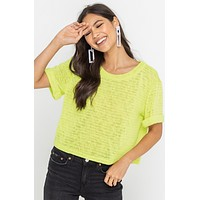 Lime Short Sleeve Top