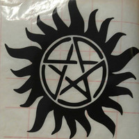 Antiposession decal-laptop decal-wall decal-mirror decal-vinyl supernatural decal