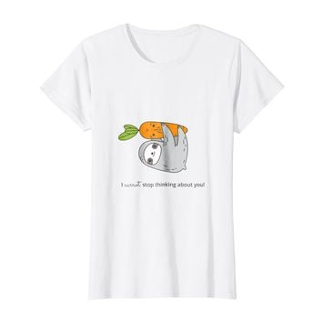 Cute Sloth T shirt Carrot and Sloth shirt for sloth lovers