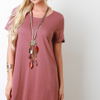 Short Sleeves Shift Tee Dress