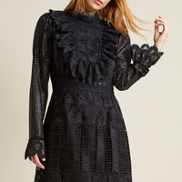 Anna Sui Lavish Lines Long Sleeve Dress
