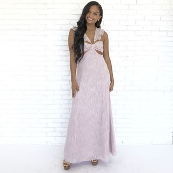Cut It Out Blush Maxi Dress