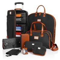Shop St. Barts Canvas Chic Collection 10-piece Luggage Set at HSN mobile
