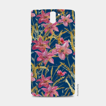 Painted Pink Watercolor Wildflowers Floral Pattern One Plus One Cases | Artist : Seema Hooda