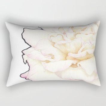 Pale Rose Rectangular Pillow by drawingsbylam