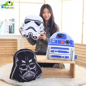 3 style Star Wars Stormtrooper Darth Vader R2-D2 Plush Cushion  Decorative Home Decor Pillow For Sofa Furniture plush Toy