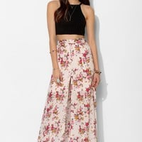 Lovecat Garden Pixie Button-Front Slit Maxi Skirt - Urban Outfitters