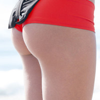 The Girl and The Water - lolli bow bottom coral