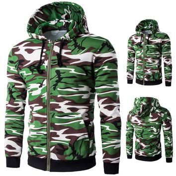 Men Slim Camouflage Fashion Jacket [10669398339]