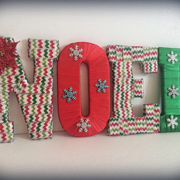 Christmas Decorations-Noel Letter Set by Tightly Wound Designs