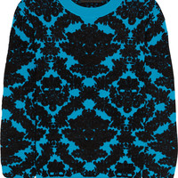 House of Holland - Flocked stretch-knit sweater
