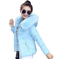 Super Fun, Big Fur Hooded Collar Coat. Warm Jacket slim jaqueta feminina