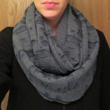 Great for Winter! Blue Boho, Homemade, Infinity Scarf.