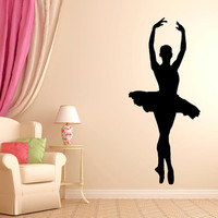 Ballerina Dancer Wall Decal