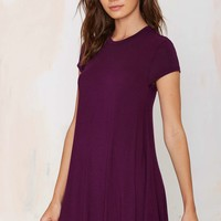 Nasty Gal Take the Shirt Cut Dress - Plum
