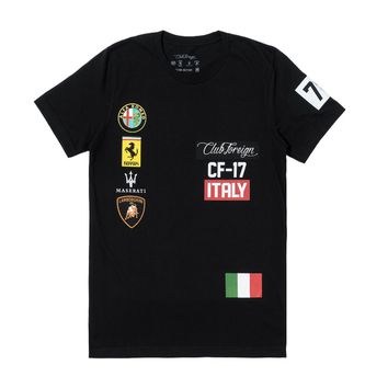 Club Foreign Italy T-Shirt in Black