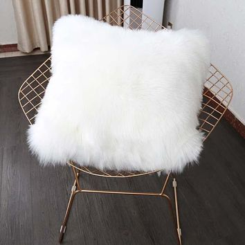 Lovely Removable Faux Fur Decorative Cushion Cover