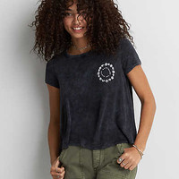 AEO Soft & Sexy Graphic Swing T-Shirt, True Black