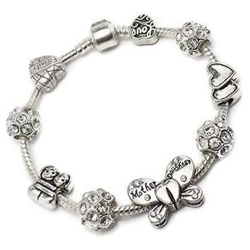 Mother Daughter Butterfly Charm Bracelet Pandora Troll Chamilia Style By Truly Charmin