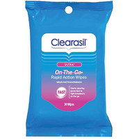 Walmart: Clearasil Ultra On-the-Go Rapid Action Wipes, 30 sheets