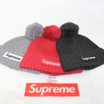 Supreme Unisex Women Men Beanies Winter knitted Hat Cap