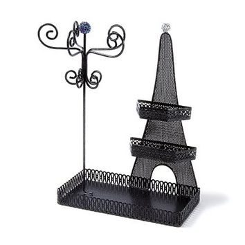 Glitter Eiffel Tower Jewelry Stand     Claire's