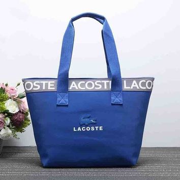Lacoste Women Fashion Leather Satchel Shoulder Bag Handbag-8