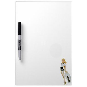 Vintage Retro Pin Up Girl - Blonde with huge Hat Dry-Erase Whiteboards from Zazzle.com