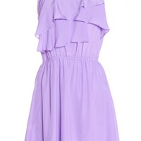 RUFFLE DRESS/ VIOLET BY BCBGENERATION