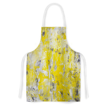 "CarolLynn Tice ""Picking Around"" Yellow Artistic Apron"
