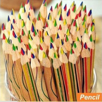 New 10pcs/Lot Rainbow Color Pencil 4 in 1 Colored Drawing Painting Pencils [8072707847]