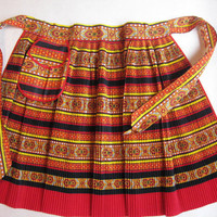 SOLD! Accordion Pleated Apron